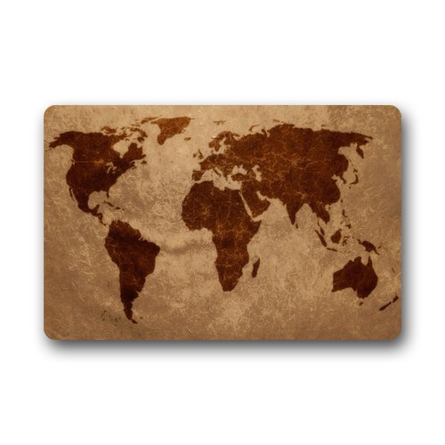 World Map DoorMat for traveler