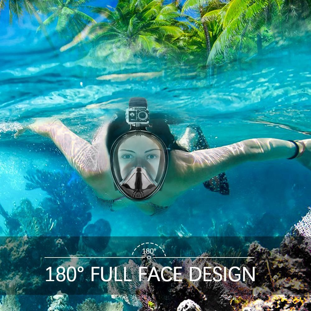 Diving mask with support for GoPro for Sea Travel Trip