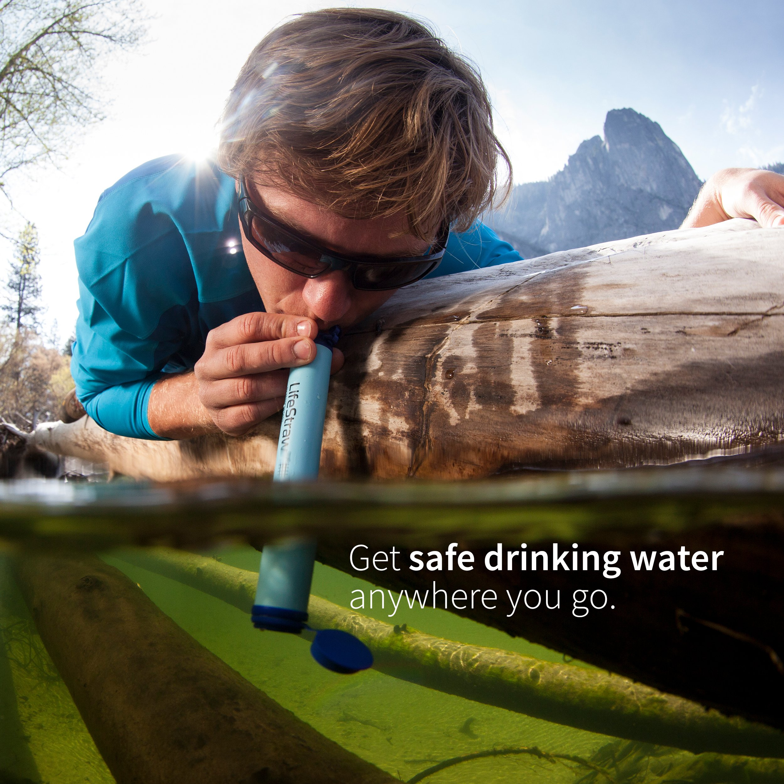 Straw water filter travel gifts for men