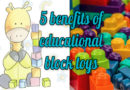 5 benefits when children play with best educational block toys