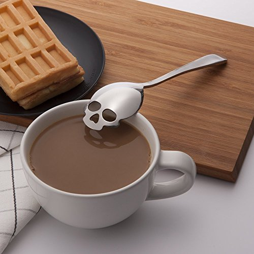 skull spoon of coffee