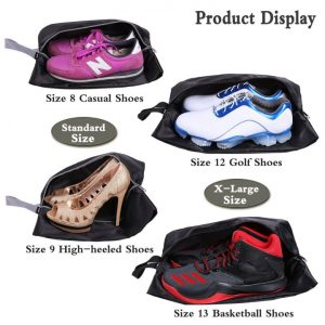 Travel Shoe Bags Set of 4 Waterproof Nylon With Zipper For Men & Women