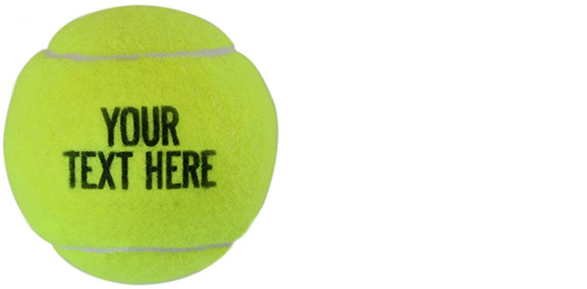 Personalized Printed Tennis Balls
