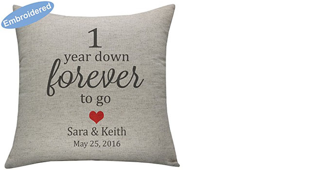 Embroidered Pillow Covers - Personalized Throw Pillowcases for Couple