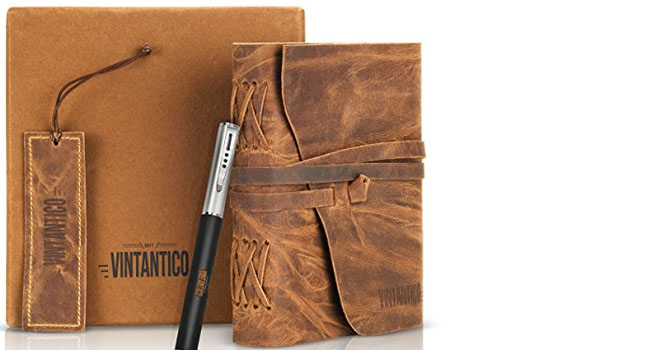 Vintage Handmade Leather Journal with Writing Pen