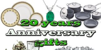 20 years anniversary gifts