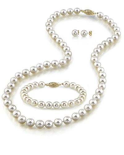 Pearl and golden jewelry one year anniversary ideas for girlfriend