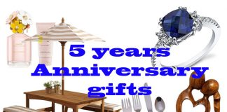 5 years anniversary gifts