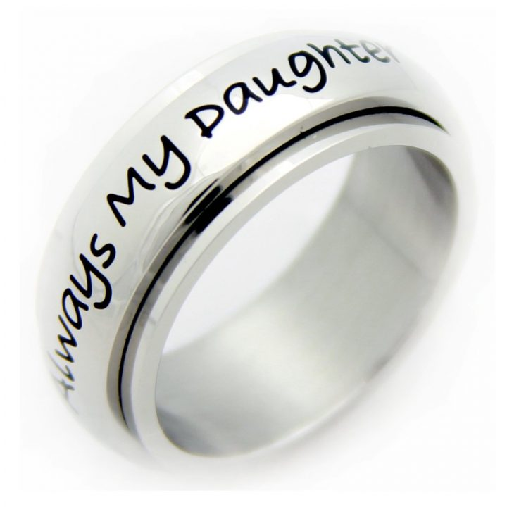 Always My Daughter Now My Friend Spinner Ring