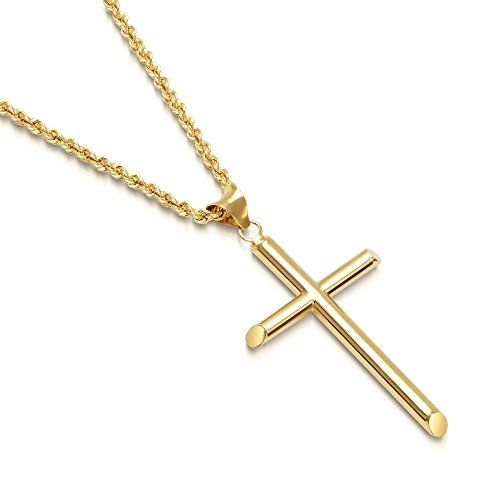 Italian Solid Gold Cross Pendant