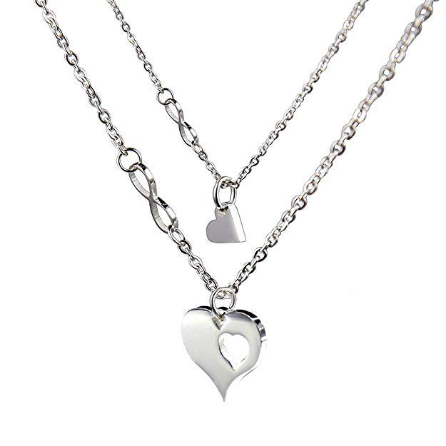 Love Between Mother and Daughter Is Forever Necklace Jewelry with Heart Charm Pendant