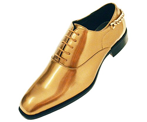 Men Smooth Shiny Patent Plain Toe