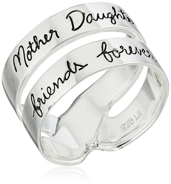 """""""Mother Daughter Friends Forever"""" Double Band Ring"""