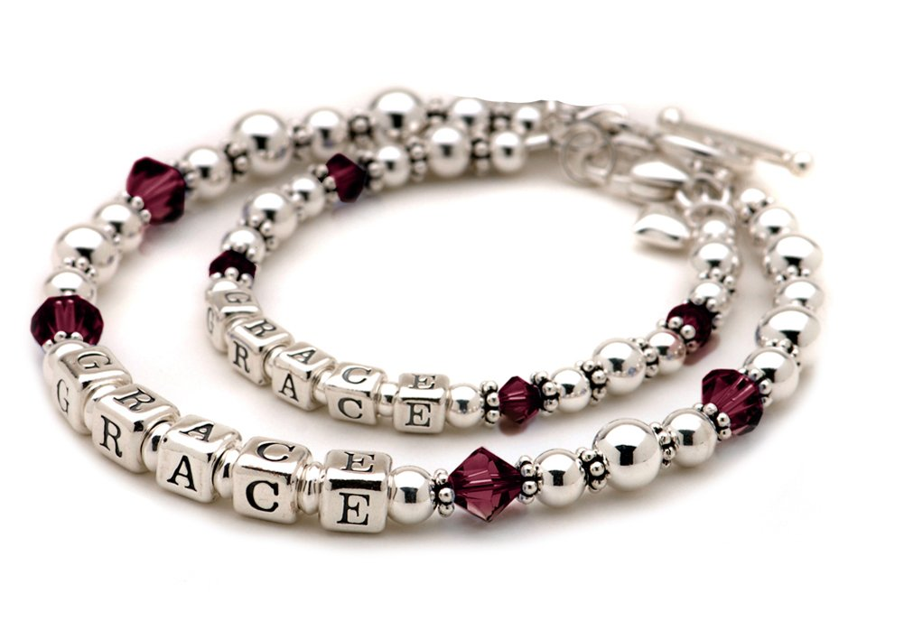 Personalized Mother Daughter Bracelets Matching Set
