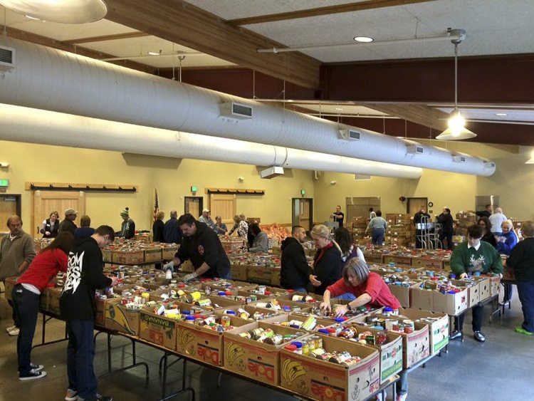 food bank center Christmas