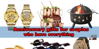 Anniversary gifts for couples have everything