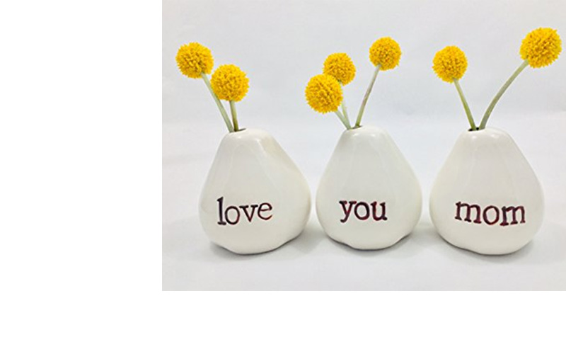 LOVE YOU MOM Bud Vase Set