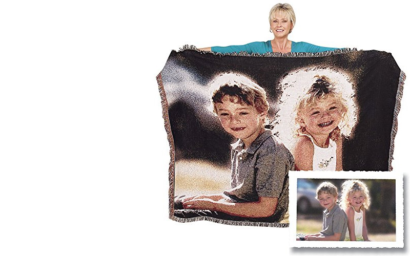 Woven Photo Throw Blanket