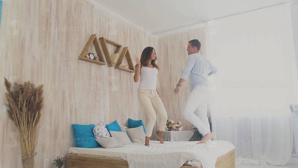 Couple dance at home