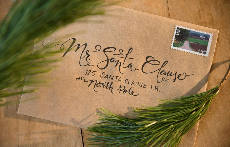 Mail a letter to Santa