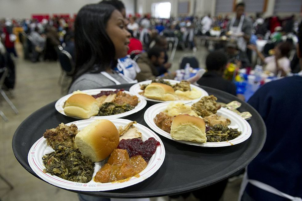 Serve a meal at a local homeless shelter