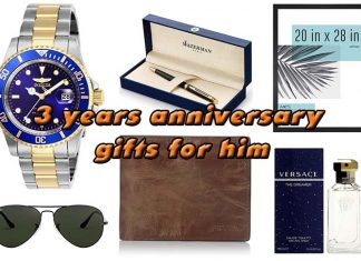 3 years anniversary gifts for him