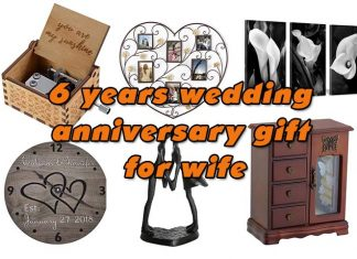 6 years wedding anniversary gift for wife