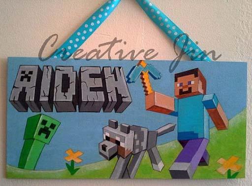 handmade door sign for the boy room